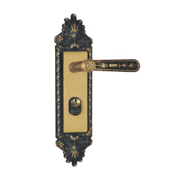 Fechadura Externa Espelho 40mm MGM Colonial Bronze Latonado