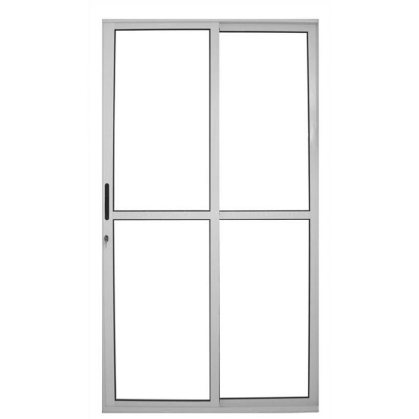 Porta de Sacada de Correr de Alumínio Branco 2 Folhas CMC Classic