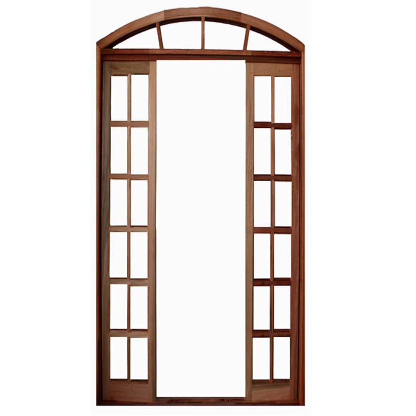 Porta Balcão de Correr de Madeira Itaúba Quadriculada em Arco Esquad - 0