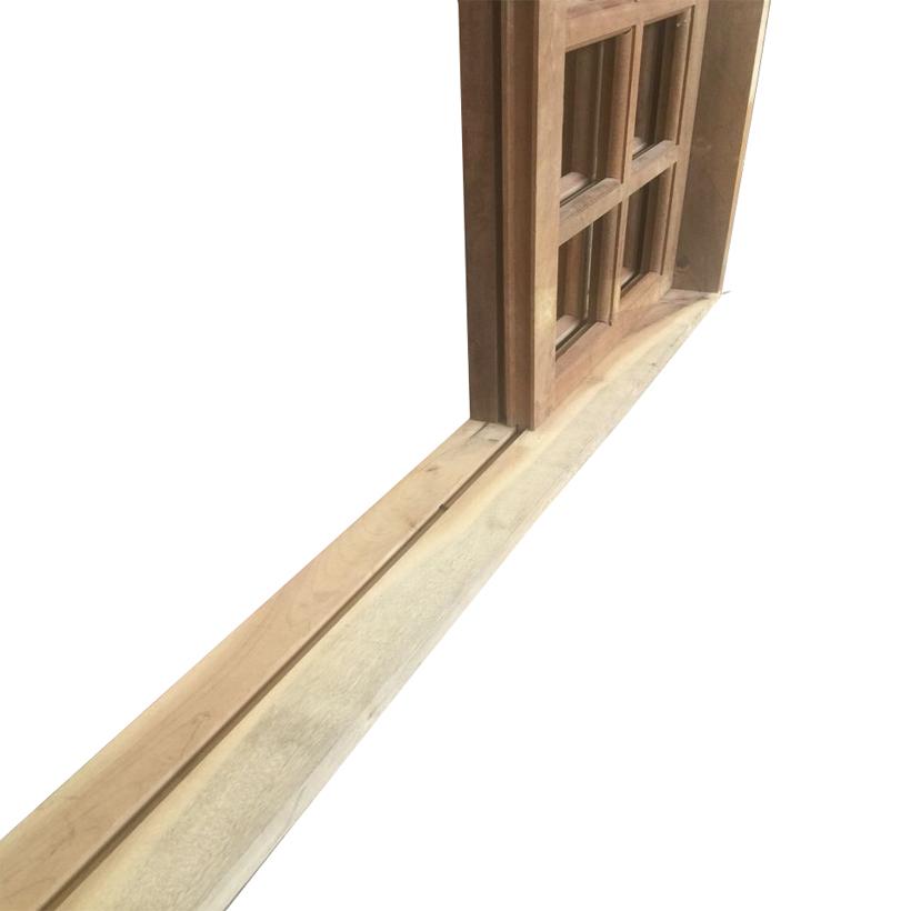 Porta Balcão de Correr de Madeira Itaúba Quadriculada em Arco Esquad - 2