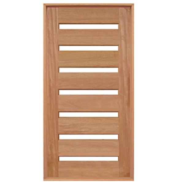 Porta Pivotante de Madeira Maciça Cedro Arana Para 7 Vidros Casmavi