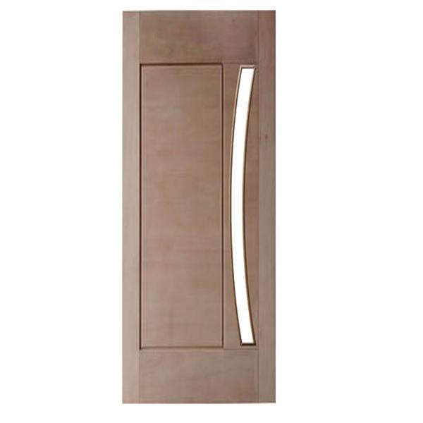 Porta de Madeira Maciça 01 Almofada Para Vidro Em Arco Casmavi d...