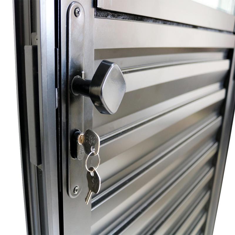 Porta de Alumínio Preto de Entrada Social CMC Modular - 3