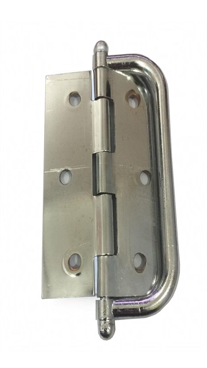 Dobradiça Para Porta Camarão De Aço Cromado 3.1/2' Ursich