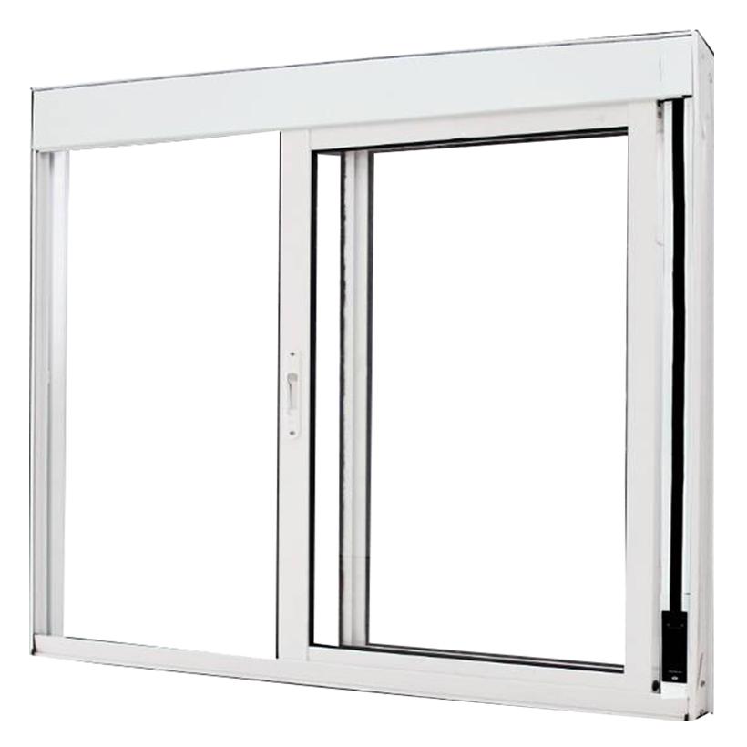 Janela de Alumínio Branco Vitro de Correr Com Persiana Integrada Sem Grade Atlântica Select - 1.50 (L) X 1.20 (A)