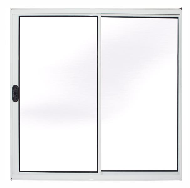 Janela de Alumínio Branco Vitro de Correr 2 Folhas Sem Grade CMC Modular - 1,00(L) X 1,00(A)