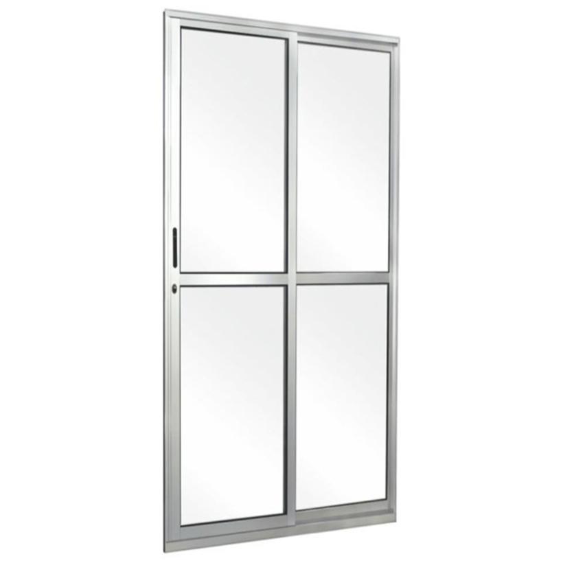 Porta-de-Sacada-de-Correr-de-Aluminio-Brilhante-2-Folhas-CMC-Classic