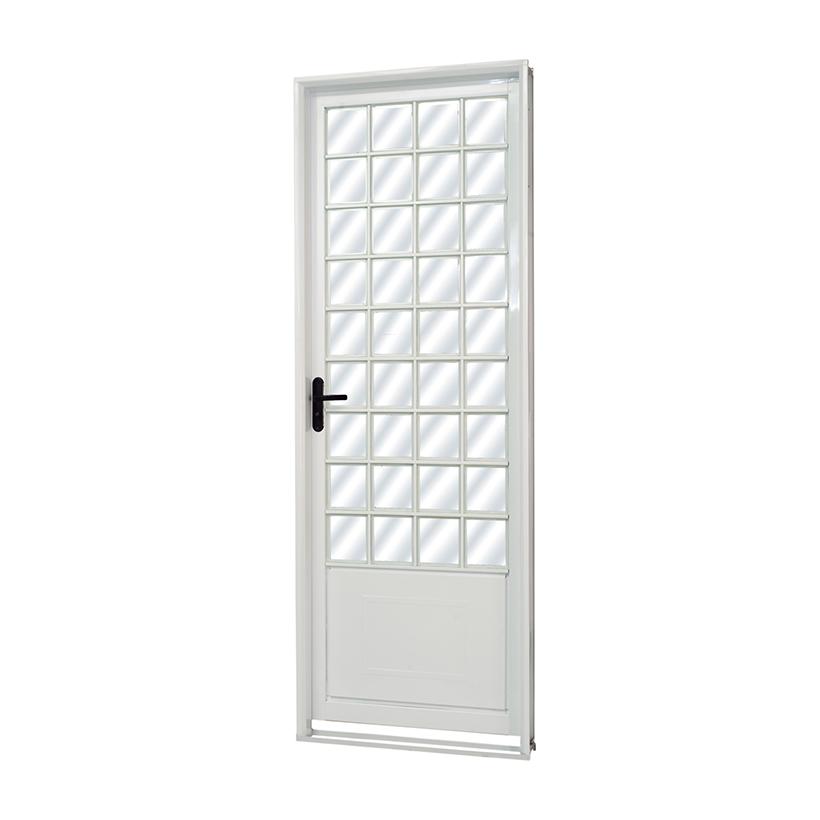 Porta de Aço Quadriculada Parma Branca MGM - 2.17 (A) X 0.85 (L)