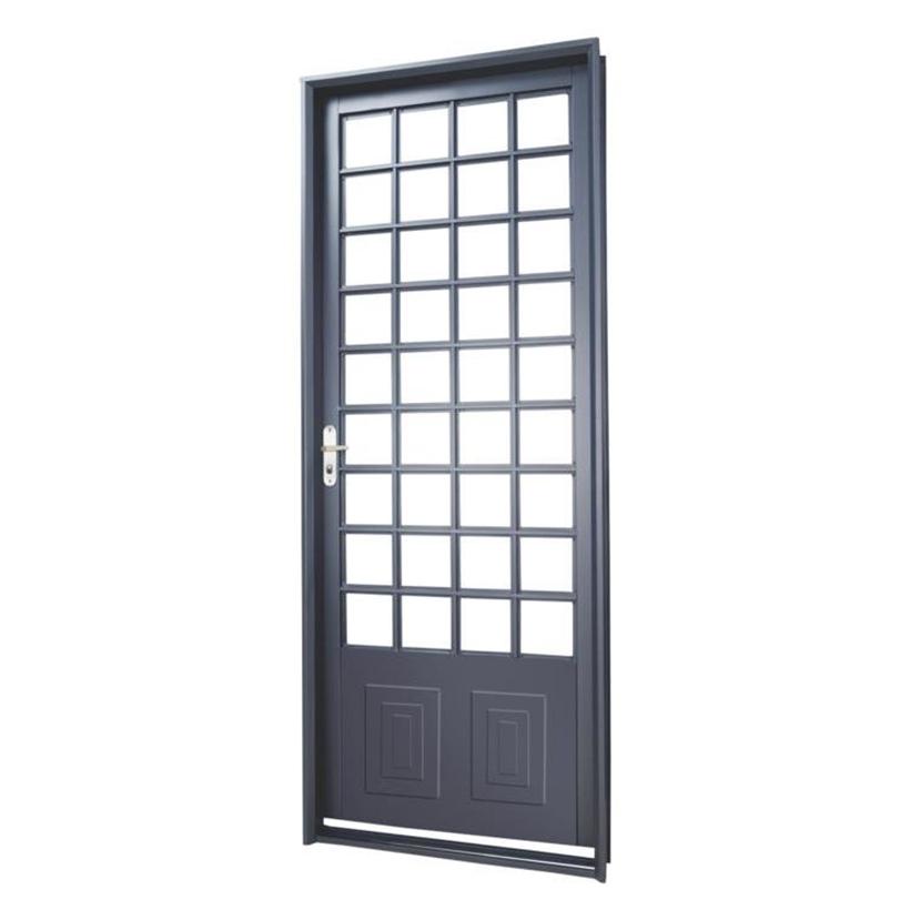 Porta de Aço Quadriculada Parma Primer MGM - 2.17 (A) X 0.85 (L)