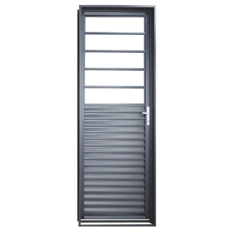 Porta de Aço Vidro Fixo Monza Primer MGM - 2.17 (A) X 0.85 (L)