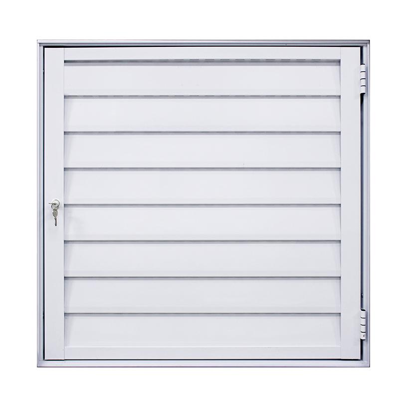 Alçapão de Alumínio Branco Ventilado Atlântica Fortline - 0.80 (L) X 0.80 (A)