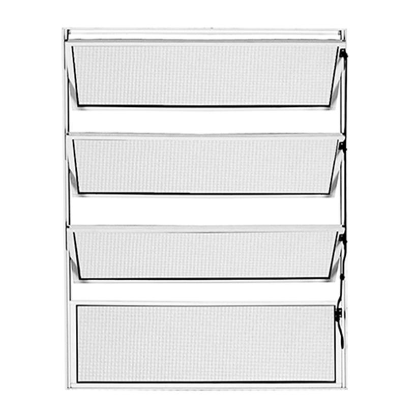 Janela de Alumínio Branco Vitro Basculante Atlântica Fortline - 0.60 - 0