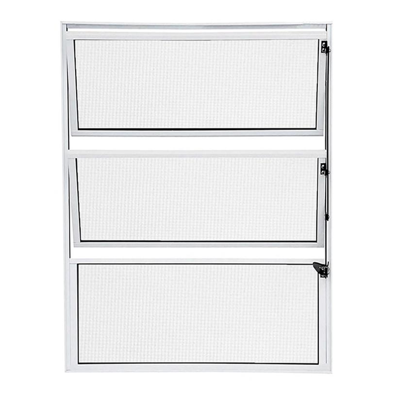 Janela de Alumínio Branco Vitro Basculante Atlântica Fortline - 0.80 (L) X 0.60 (A)