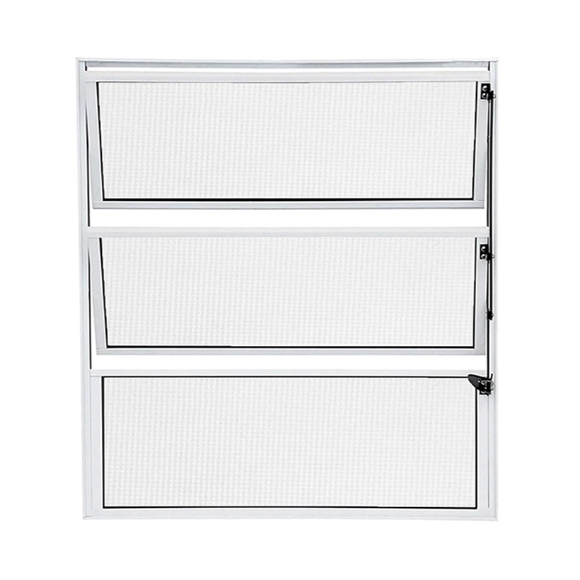 Janela de Alumínio Branco Vitro Basculante Atlântica Fortline - 1.00 (L) X 0.60 (A)