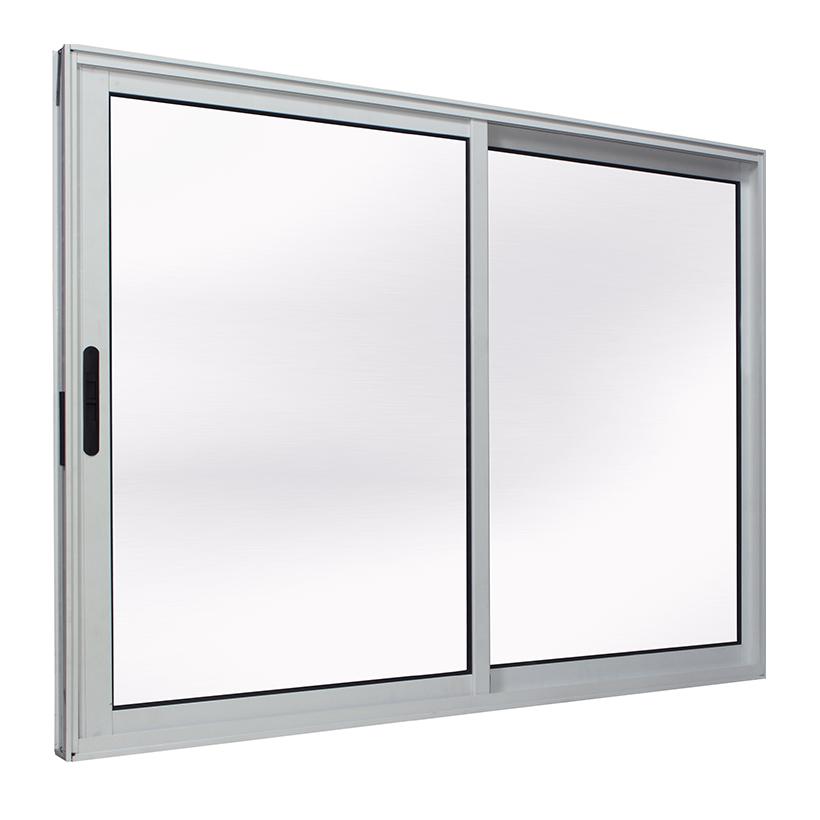 Janela de Alumínio Branco Vitro de Correr 2 Folhas Móveis Suprema Sem Grade CMC Classic - 1.50 (L) X 1.20 (A)