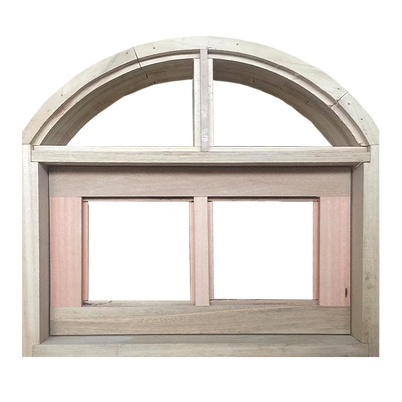 Janela de Madeira Vitro Basculante em Arco Padrão Cedro Esquadrias Lo - 0