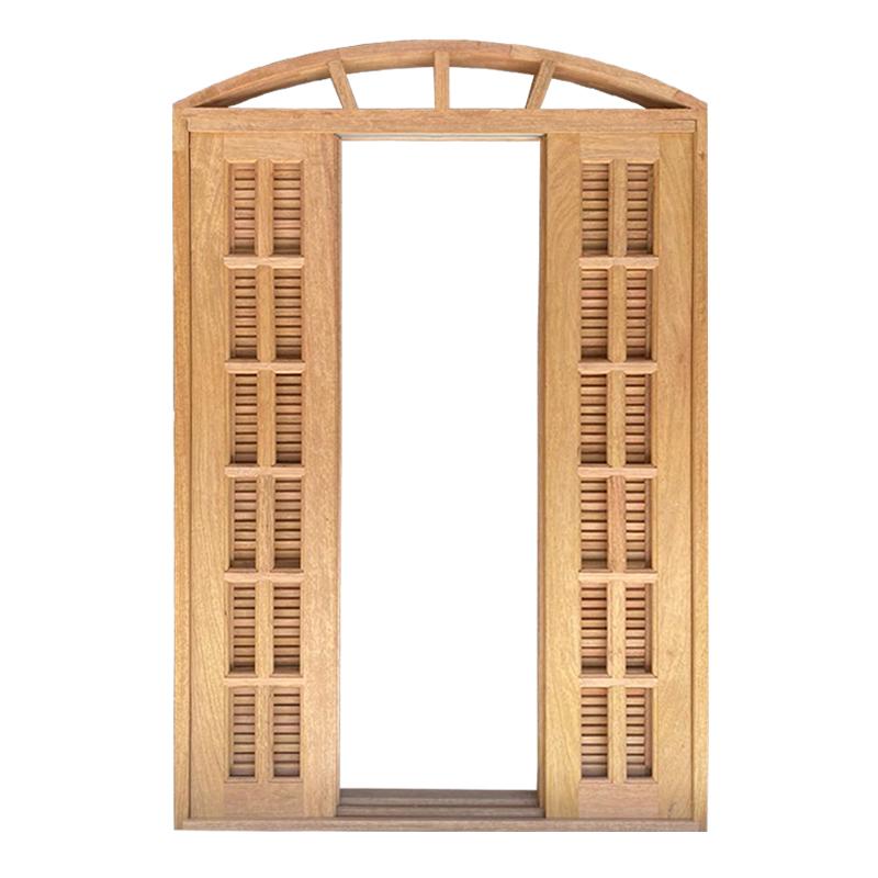 Porta Balcão de Correr de Madeira Cedro Arana Veneziana em Arco Esqua - 1