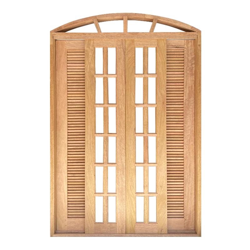 Porta Balcão de Correr de Madeira Cedro Arana Veneziana em Arco Esqua - 2