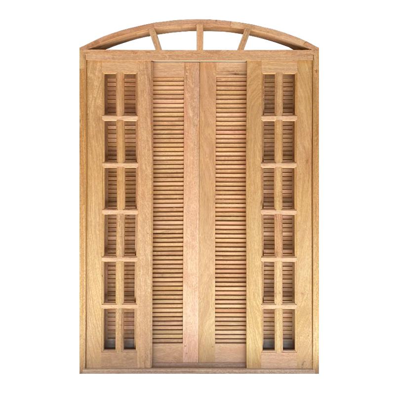 Porta Balcão de Correr de Madeira Cedro Arana Veneziana em Arco Esqua - 0