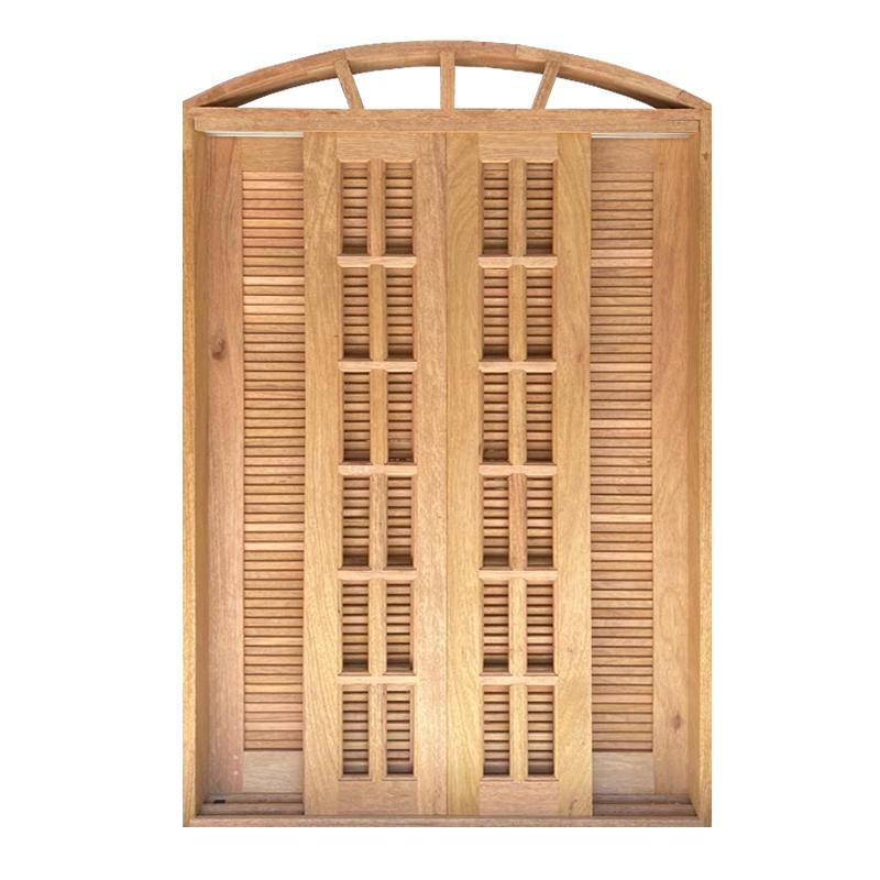Porta Balcão de Correr de Madeira Cedro Arana Veneziana em Arco Esqua - 3