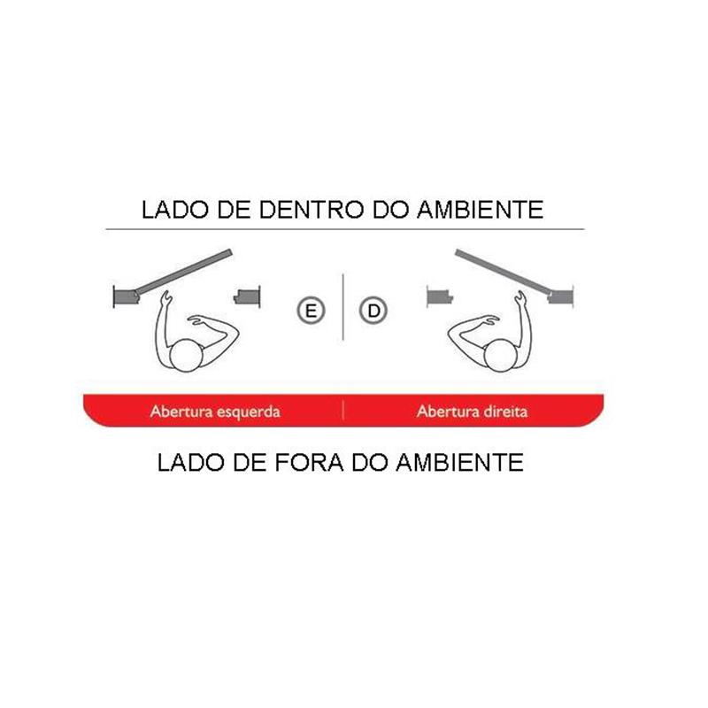 Kit Porta de Madeira Semi-Oca Lisa Rodam Imbuia - Lado Direito - 2.10 - 2